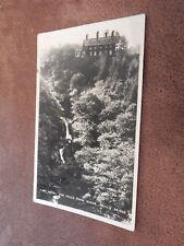 Real photo postcard -Hotel & Falls - Devil's Bridge Ceredigion Wales