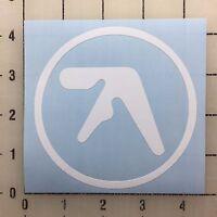 "Aphex Twin Logo 4"" Wide White Vinyl Decal Sticker - BOGO"
