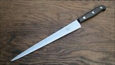 Vintage Swedish Chef's Hand-forged Carbon Steel Slicing Knife RAZOR SHARP Sweden