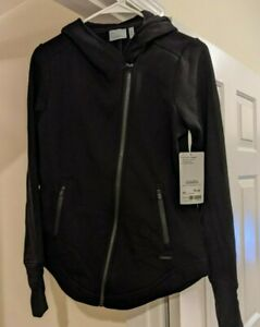 XS Athleta cozy karma jacket black NWT