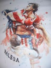 Rocky 40x28in Oil Painting. Not a print, Boxing Tyson Creed Framing available.