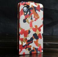 Urcover® LG Nexus 5 Kunststoff Flip Schutzhülle Tarn Optik Case Cover