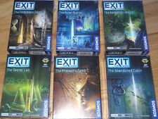 Exit The Game Set of 6 Escape Room Strategy Cabin Castle Lab tomb Island Polar