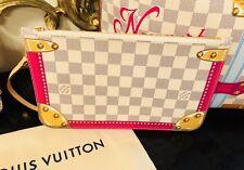 🎁 Newport Beach Louis Vuitton Damier Azur Neverfull Pouch Pochette Miami Clutch