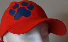 SIBERIAN HUSKY BLUE PAW PERSONALISED RED BASEBALL CAP HAT SLED DOG DOGS HUSKIES