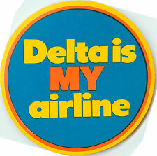 DELTA AIRLINES  is MY AIRLINE - Colorful Old Luggage Label / Decal
