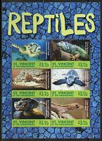 ST. VINCENT GRENADINES  2015  REPTILES SHEET  MINT NH