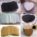 100pcs Kraft Paper Hang Tags Wedding Party Blank Gift Cards Luggage Label Hot