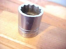 "Indestro 3/8"" Drive 5/8"" Shallow 12 Point Socket  6220 Dates PRE mid 1960's"