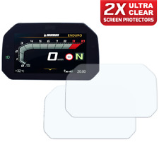 2 x BMW R1250GS 2018+ Connectivity Dashboard Screen Protectors: Ultra Clear
