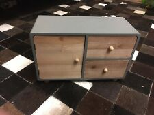 Retro Miniature Drawer Console Midcentury Modern; Jewelry Box; Doll House