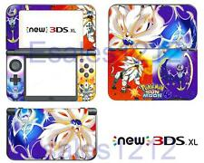 Anime Pokemon Sun & Moon Vinyl Skin Stickers Decal for Nintendo New 3DS XL 2015
