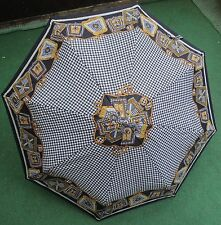 Schirm Regenschirm Knirps - 70s - Vintage - Space Age - schwarz weiß bunt 2