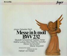 """CD x 2  FOYER 2-CF 2022 Bach """"Messe in h-moll BWV 232"""" Kathleen Ferrier; Karajan"""