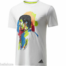 nwt~Adidas LIONEL MESSI GRAPHIC TEE FAN Print Jersey soccer Shirt Top~Mens sz XL