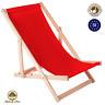 Liegestuhl Strandliege Sonnenliege Gartenliege Buchenholz Liege 120 kg Rot