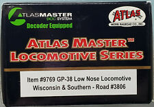 Atlas #9769 - HO - Wisconsin & Southern GP38 Low Nose Road #3806 - w/DCC&Sound