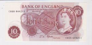 GB ROYAL MINT 10/- TEN SHILLINGS BANKNOTE SUPERB CONDITION FFORDE C66N 644211