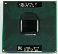 Intel Core 2 Duo CPU 2.0 GHz / 2M / 800 Mhz T6400 Mobile Processor SLGJ4
