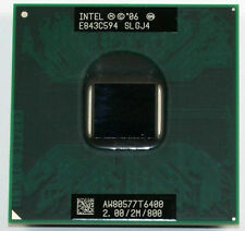 Intel Core 2 Duo CPU 2.0 GHz / 2M / 800 Mhz T6400 Mobile Processor SLGJ4
