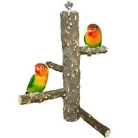 Bird Perch Nature Wood Stand for 3-4pcs Small Parrots