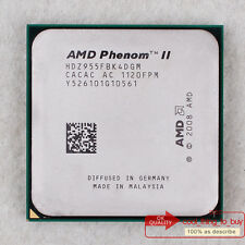 AMD Phenom II X4 955 HDZ955FBK4DGM CPU 3.2/6M/4000 Socket AM3 100% work free sp