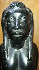 ANCIEN STATUE SCULPTURE STATUETTE FEMME BEBE AFRICAIN H 25 cm AFRIQUE SENEGAL