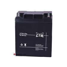 CTM ct24-12is 12v 24ah AGM Batteria per standby MOTO TRATTORE PRATO