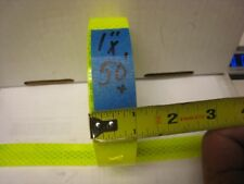 """Fluorescent NEON YELLOW  Reflective Conspicuity  Tape 1"""" x 50 feet lined"""