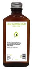 Huile végétale d' AMANDE DOUCE 250ml pressée à froid 100% PURE by PURESPA