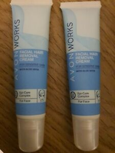 Avon TWIN PACK facial hair removal cream FOR SENSITIVE SKIN 15ml x2 REDUCED