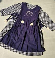 104 ♥ Käthe Kruse Kleid ♥ blau ♥ Waldorf ♥ tolle Qualität ♥ Schürze ♥ neuw ♥