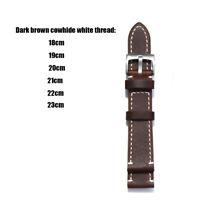 1Set Genuine Leather Watch Wrist Strap Accessory Belt 18/19/20/21/22/23/24mm New