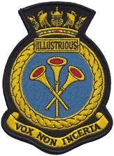 HMS Illustrious Royal Navy RN Surface Fleet Crest Mod Embroidered Patch