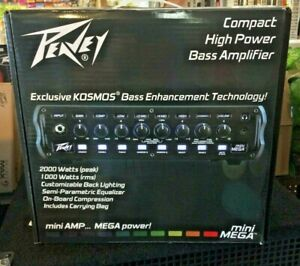 Peavey Mini Mega Bass Amplifier Head with carrying bag. New. Free Shipping