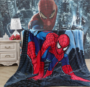 Spider-Man Soft Warm Coral Fleece 150M*200M Throw Blanket Rug Plush Xmas Gift