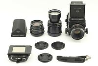 Mamiya RB67 Pro S w/ 65mm +127mm+250mm +Prism Finder [ Exc+5 w/ Strap ]Japan0854