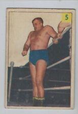1955 PARKHURST # 5 HANS HERMANN WRESTLING NICE CARD