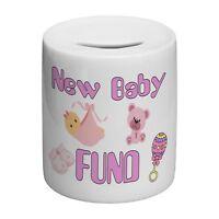 New Baby Fund (Pink) Novelty Ceramic Money Box