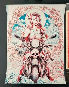 Queens of the Stone Age Toronto Miles Tsang Signed #d/100 Concert Print Poster