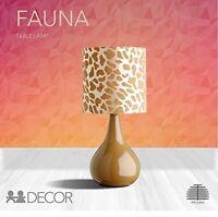 MODERN TABLE DESK LAMP LAMPS BEDROOM BEDSIDE LIGHT FABRIC SHADE CERAMIC BASE FAU
