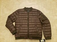 Guess Mens Size-Large Light Weight Puffer Bomber Jacket NWT Orig-$158
