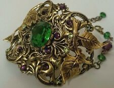 Artisan cuff bracelet Victorian style In fashion made with Swarovski crystals