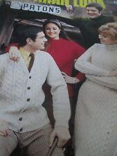 Knitting Pattern BOOK Aran Adulti cappotti Giacche Maglie e cardigan