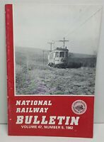 National Railway Bulletin Volume 47 1982 Vintage