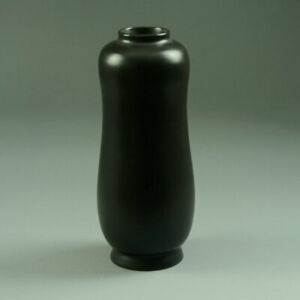 Poole Pottery Contemporary ware vase with black glaze 1950s
