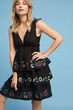 NWT Anthropologie Nerano Deep-V Mini Dress by Red Carter, L, Black, $228