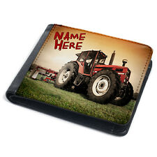 Tractor Wallet Mens Bi Fold Coin Card Holder Farmer Personalised Gift