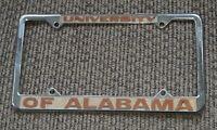 VTG University of Alabama CAST Metal OLD License Plate Frame ESTATE SALE FIND