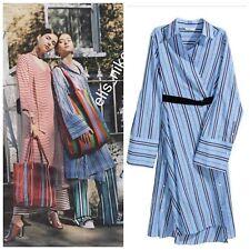 BNWT H&M Trend Studio Premium Cotton Striped Shirt Dress EU36/US6/UK10 BLOGGERS